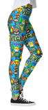 Camp Collage Leggings (A-M)