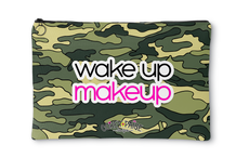 Green Camo Wake Up Makeup Accessory Pouch