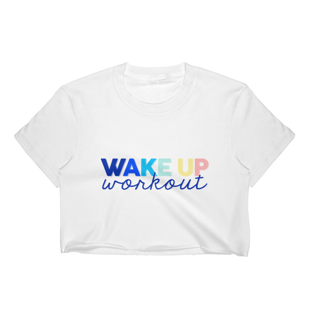 Good Vibes / Wake Up Workout Cropped  - as seen exclusively at POPSUGAR Play/Ground