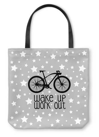 Wake Up Work Out Tote Bag