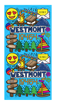 Camp Collage Towels