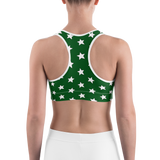 All-Star Green & White Sports Bra
