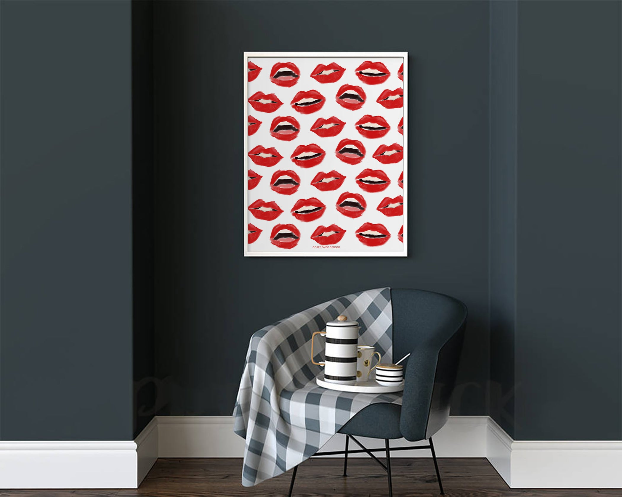 Painted Lips Framed Print