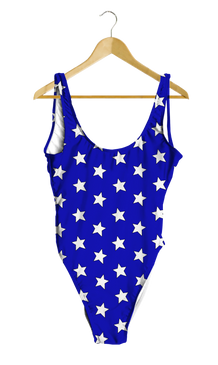 Red & Blue Split Stars One-Piece