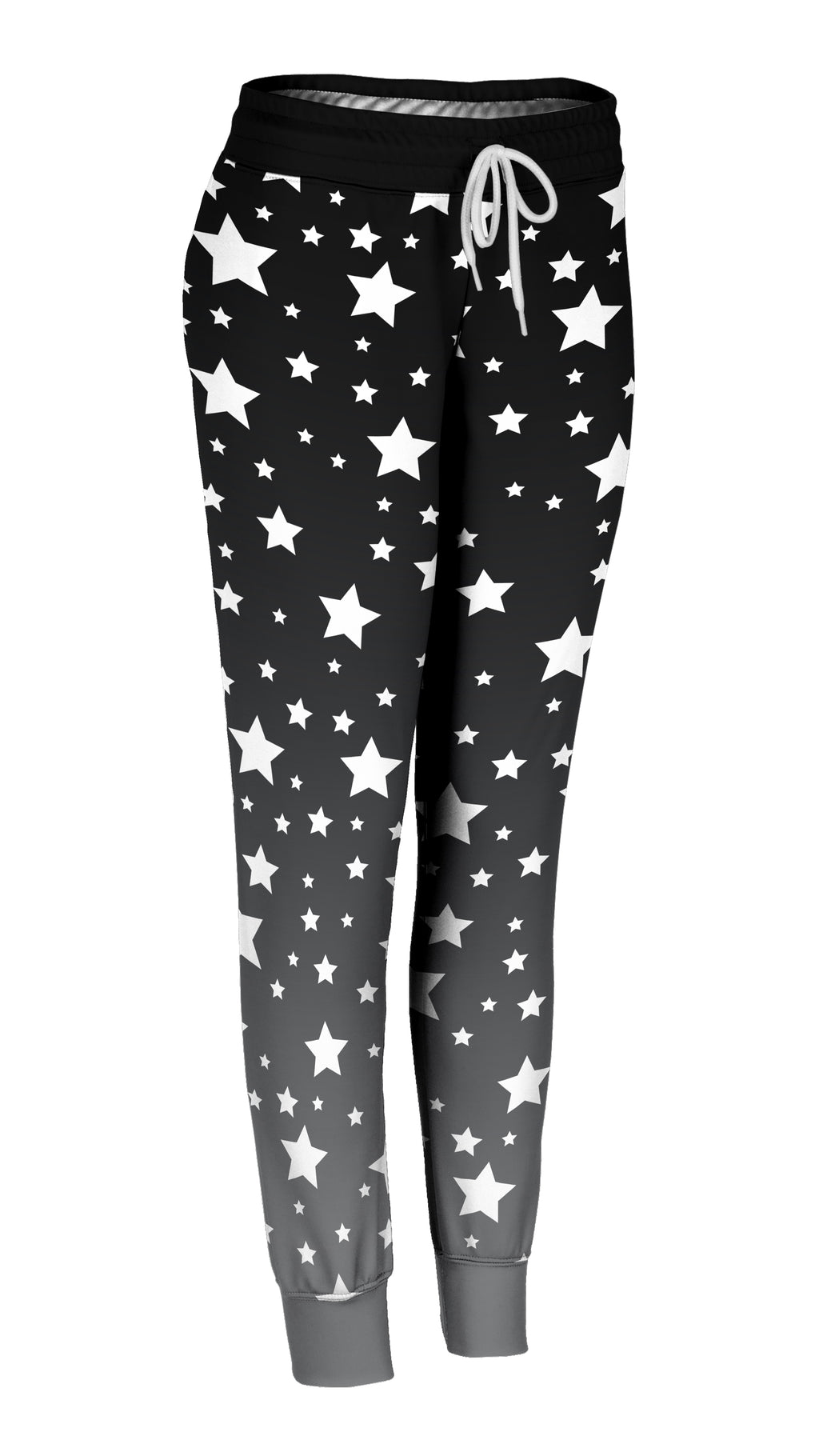 White Stars Ombre Joggers