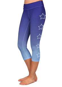 White Star Outline Capris