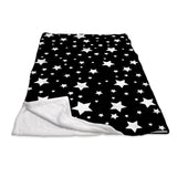 White Stars Black Sleep Sack
