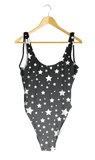 White Stars Gray Ombre One-Piece