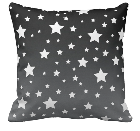 White Stars Ombre Throw Pillow