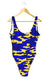 Blue & Yellow Camo One-Piece