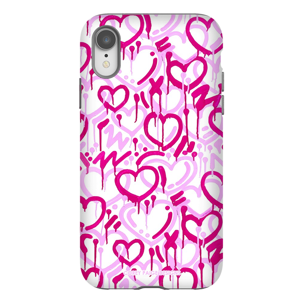 Pink Electric Love iPhone Case