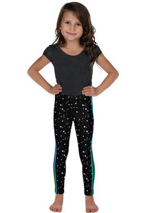 Rainbow Side Stripe Mini Stars Kid's Leggings