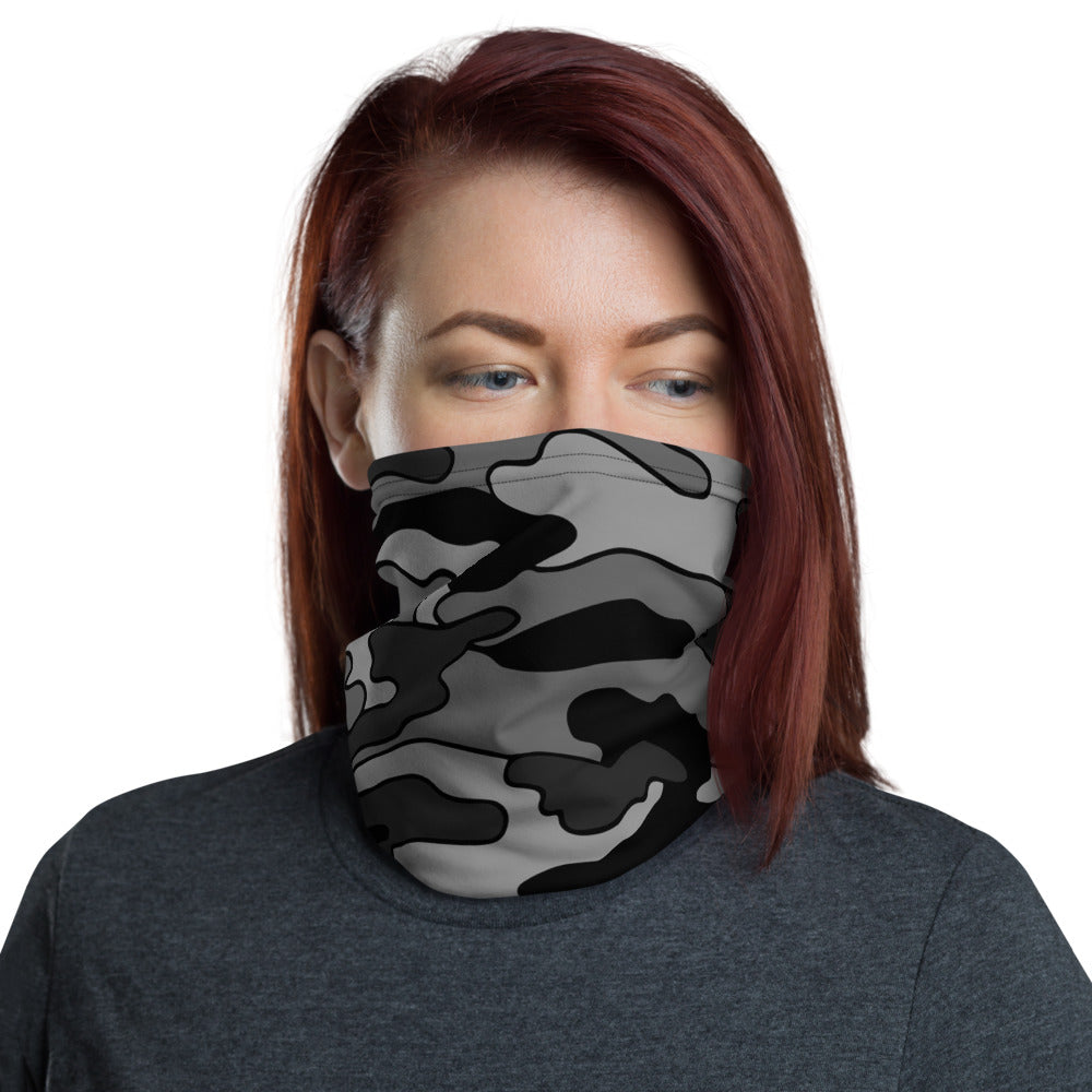 Black & Gray Camo Gaiter