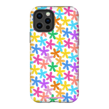 Colorful Painted Flowers iPhone Case