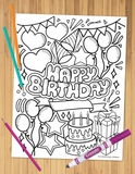 Happy Birthday Coloring Sheet