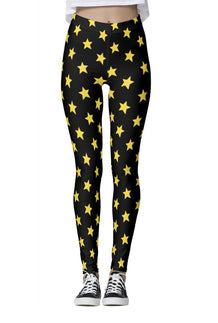 Black & Yellow All-Star Leggings