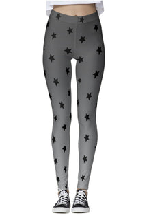 Black Star Gray Ombre Leggings