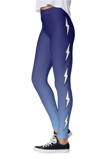 Side Lightning Bolts Ombre Leggings
