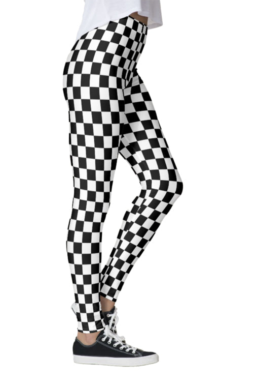 Black & White Checkered Leggings