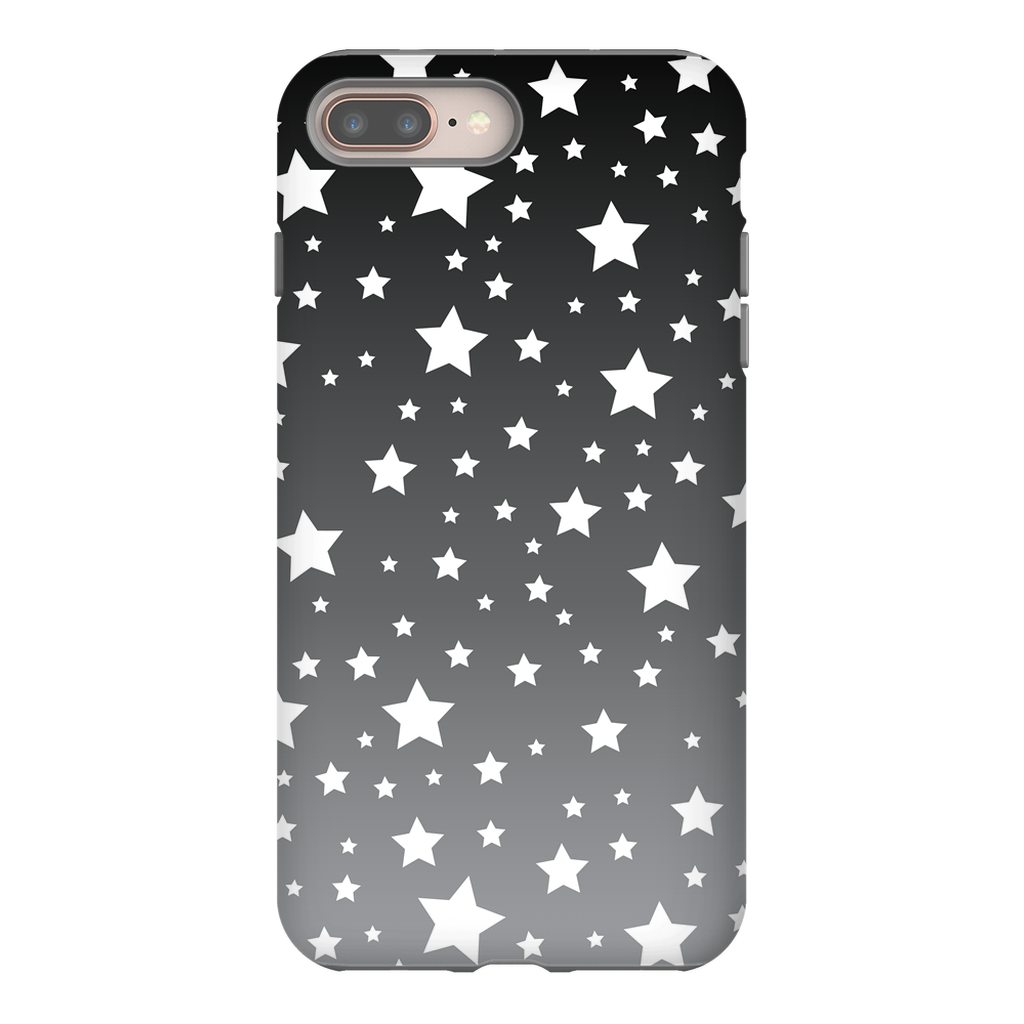 White Stars Gray Ombre Phone Case