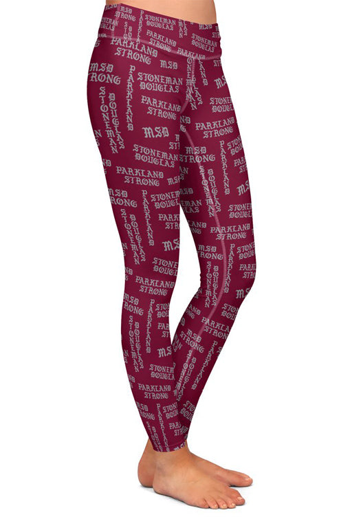 Parkland Strong Gothic Letters Leggings