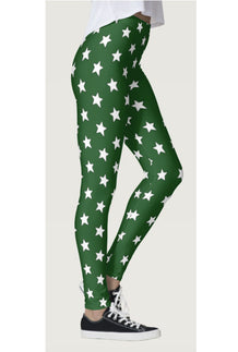 Green & White All-Star Leggings