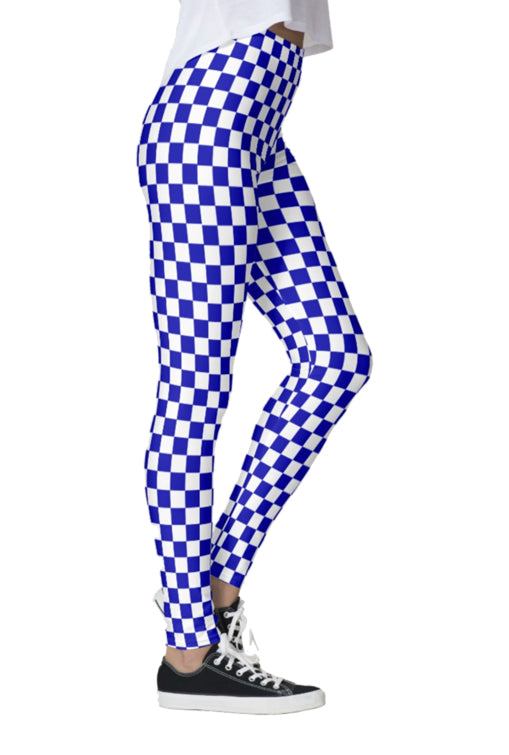 Colored Checkered Leggings