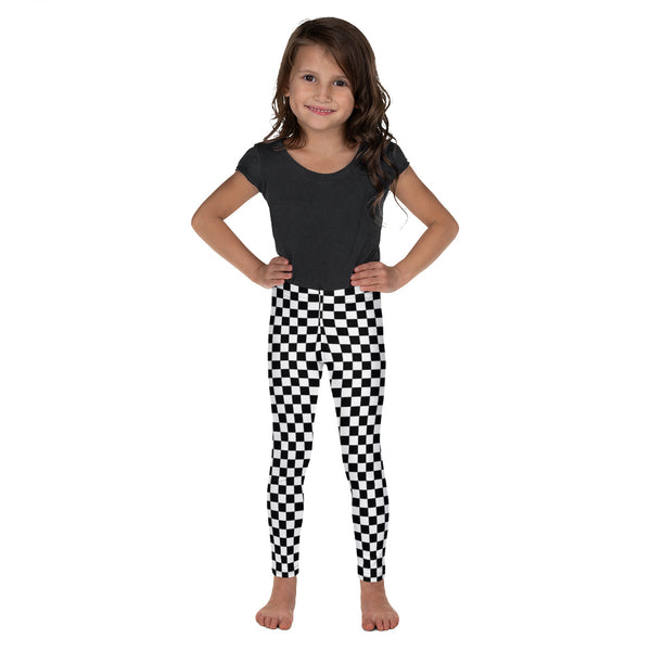 Black & White Checkered Kid's Leggings
