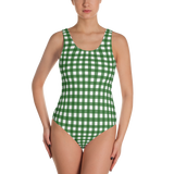 Green Gingham One-Piece