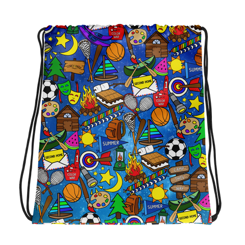 Galaxy Camp Drawstring Bag