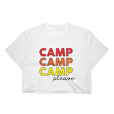 Camp Please T-Shirt Crop Top