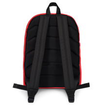 Navy Camo with Red Backpack