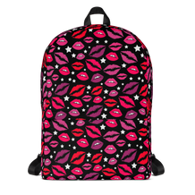 Lips & Stars Black Backpack