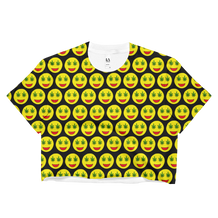 Smiley Weed Eyes Cropped T-Shirt
