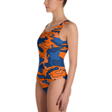 Orange & Blue Camo One-Piece