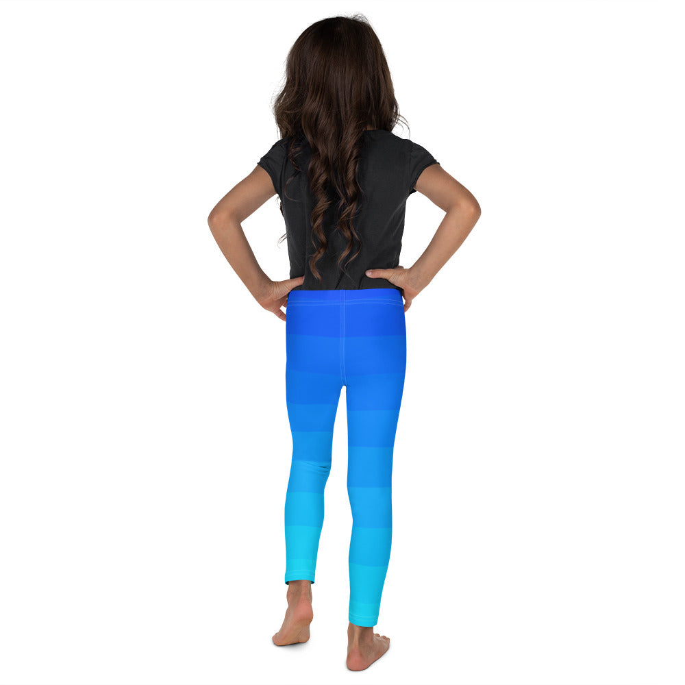 Blue Ombre Stripe Kid's Leggings