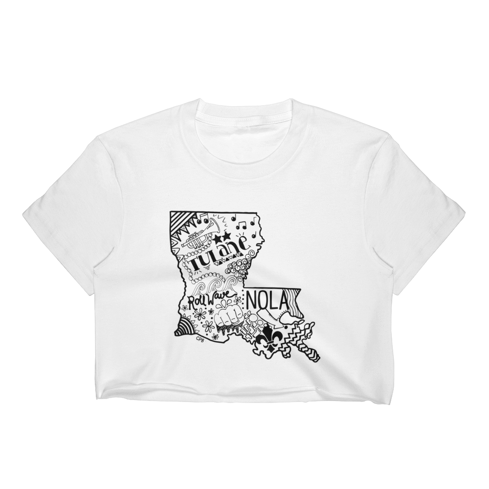 Louisiana T-Shirt Crop Top