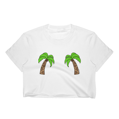 Double Palm Trees Cropped T-Shirt