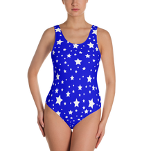 White Stars Blue One-Piece Swimsuit