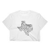 Texas Drawing Cropped T-Shirt