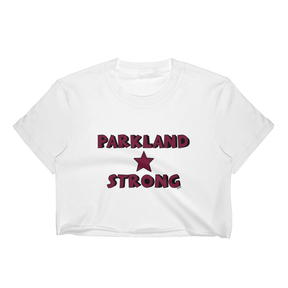 Parkland Strong Star Stacked Women's Cropped Tee