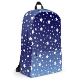 White Stars Blue Ombre Backpack
