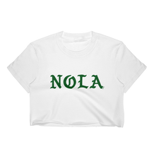 NOLA Green Gothic Letters T-Shirt Crop Top