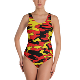 Red & Yellow Camo One-Piece