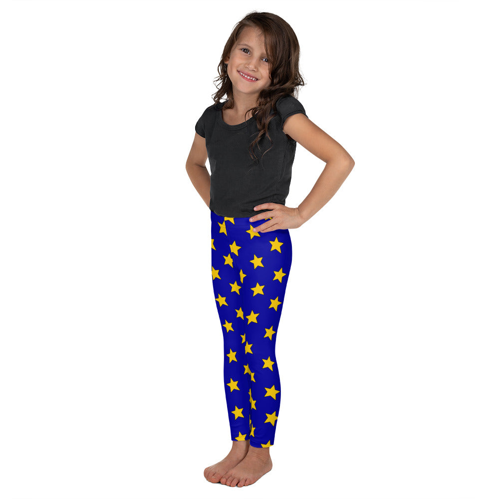 Yellow All Star Blue Kid's Leggings
