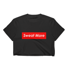 Sweat More Red Block Cropped T-Shirt