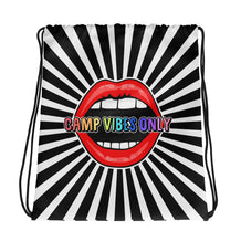 Camp Vibes Only Mouth Drawstring bag
