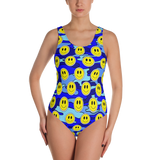 Smiley Blue Camo One-Piece