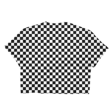 Checkered Cropped T-Shirt