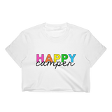 Happy Camper Rainbow T-Shirt Crop Top